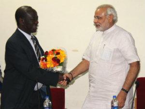 Vice President Delegation Of Uganda Meets Narendra Modi