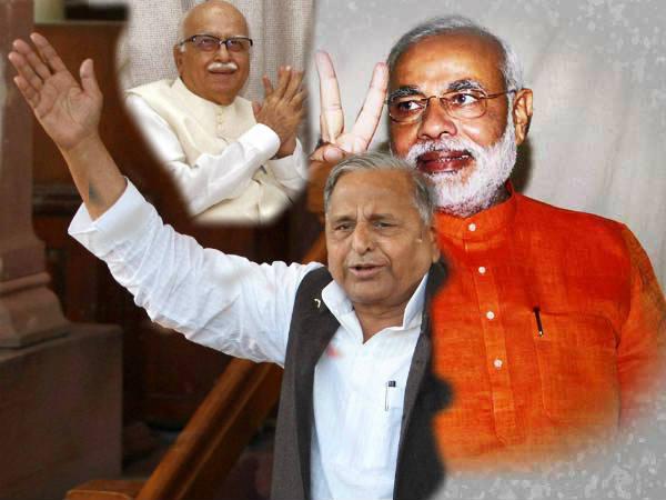 Praising Of Advani Mulayam Targeted Narendra Modi