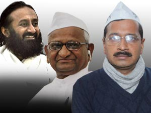 Anna Hazare Sri Sri Appeals Kejriwal To End Fast