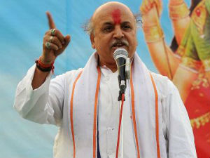 Togadia Slams Modi Toilets First Temples Later Comment