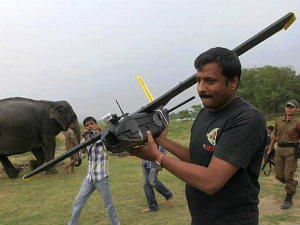 Now Drone Would Check Rhinos Security In Kaziranga