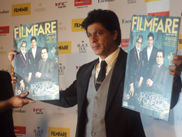 Shahrukh Khan At Filmfare Cover Page Launch