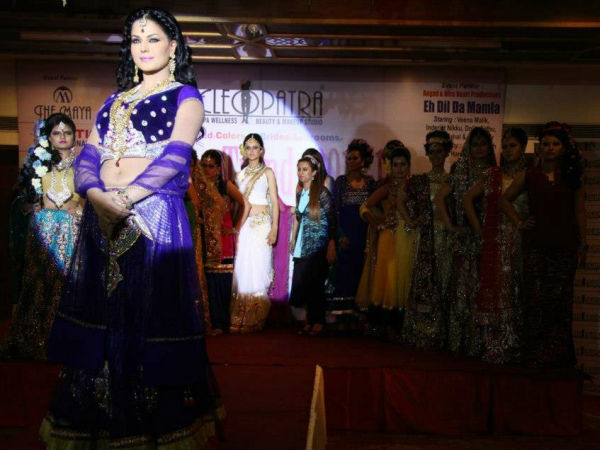 Veena Malik Walks The Ramp For Eh Dil Da Mamla Hai