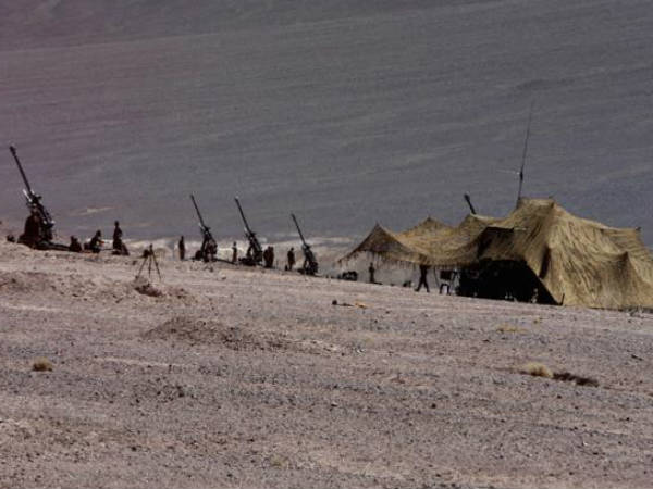 Chinese Troops Erect One More Tent At Dbo