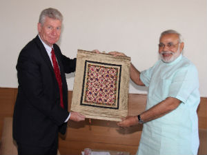 Swiss Canadian Envoys Meet Narendra Modi