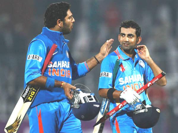 Gambhir Yuvraj Dropped From Indias Ct Squad