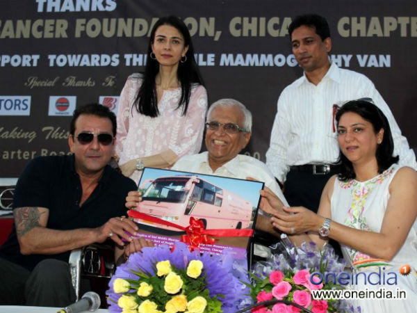 Sanjay Dutt Priya Dutt Donate A Mobile Mamography Unit