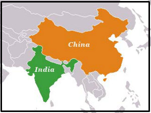 india-china-in-map