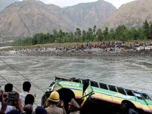 Shimla 42 Feared Dead As Bus Falls Into River