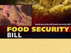 Food Security Bill Special Session Will Be Called