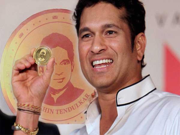 Sachin Tendulkar On Gold Coin
