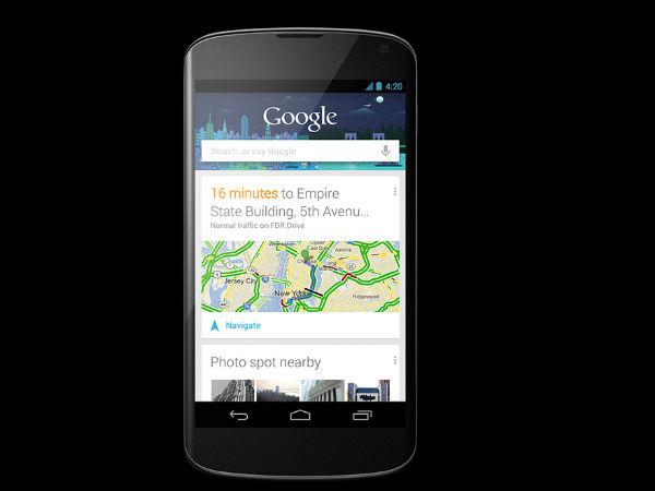 Google Nexus 4 Available In India