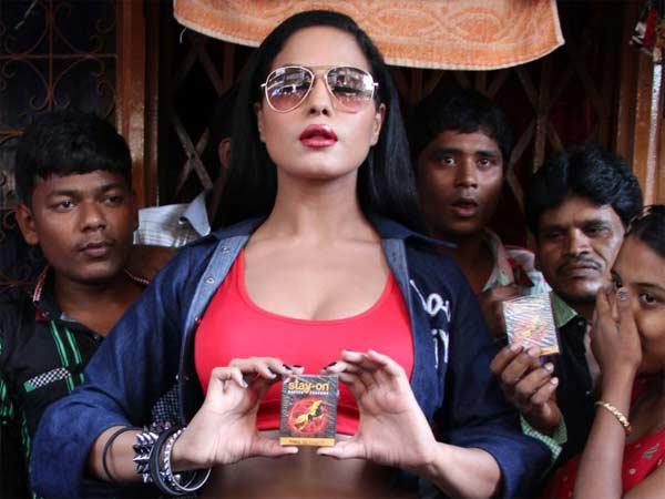 Veena Malik Promotes Zindagi 50 50 Distributes Condoms