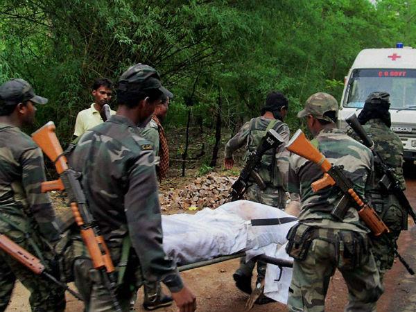 Pics Naxal Attack Chhattisgarh