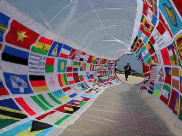 Japan Kite Fest All World Flags In One Kite