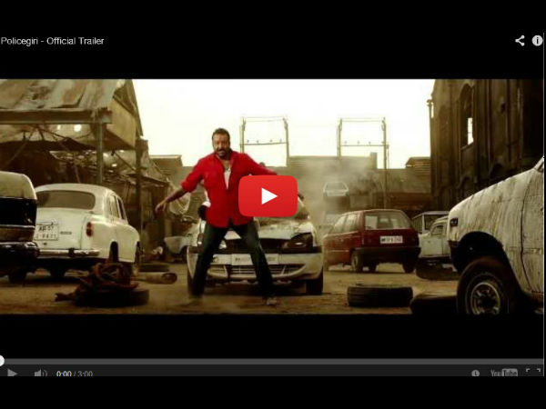 Watch Video Of Policegiri Trailer Feat Sanjay Dutt