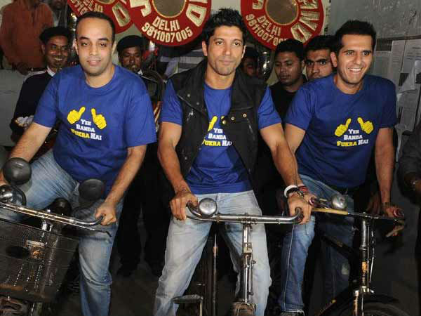 Fukrey Movie Promotion Celebrate Second Class