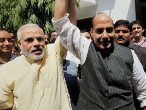 No U Turn On Modi Says Rajnath Singh