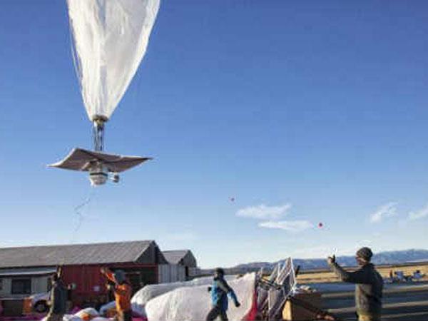 Google Tests Balloons Beam Internet