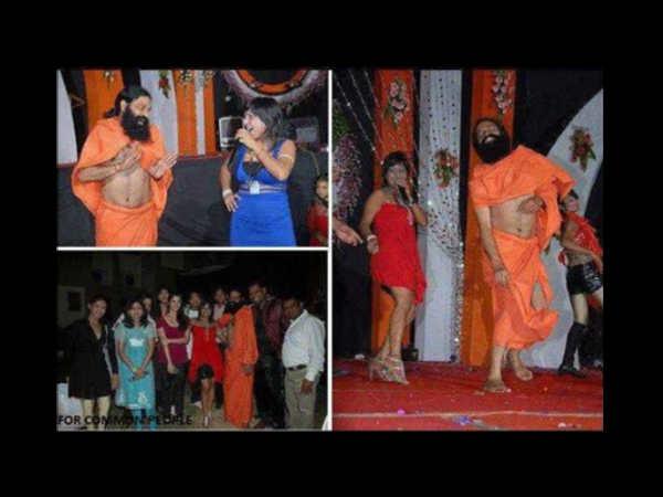 Duplicate Baba Ramdev With Hot Babes