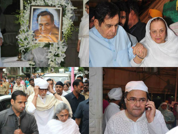 Dilip Saira Amitabh Pran Prayer Meet