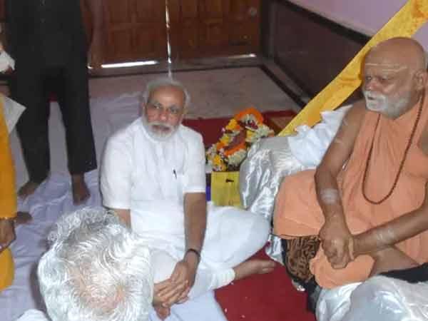 Sankaracharya Gave Bless Narendra Modi In Puri