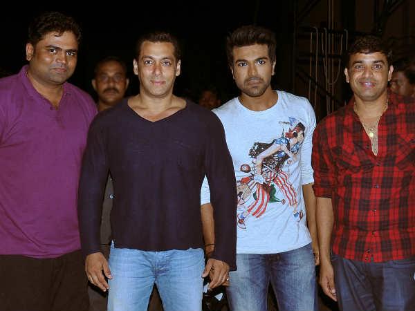 Salman Khan Meets Ram Charan On Yevadu Set