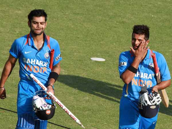 Virati Kohli and Suresh Raina