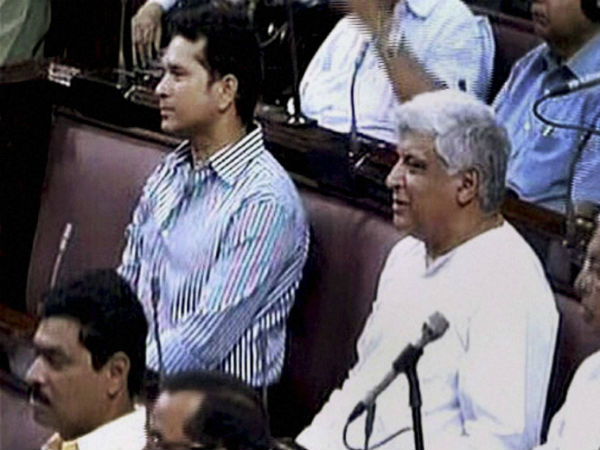 Sachin Attends Parliament Wife Anjali Watches From Gallery