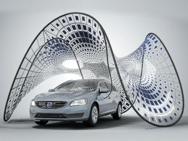 Volvo Presents Foldable Solar Charging Station