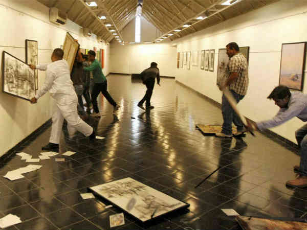 Vhp Has Damaged Art Gallery Showing Pakistani Work In Ahmedabad