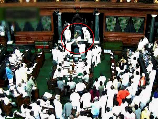 Ruckus Lok Sabha On Motion Suspend 11 Mps On Telangana