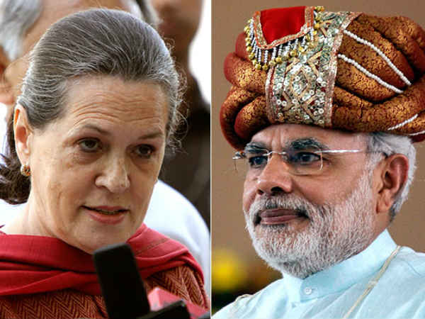 Power Display Between Modi And Sonia In Rally At Jaipur