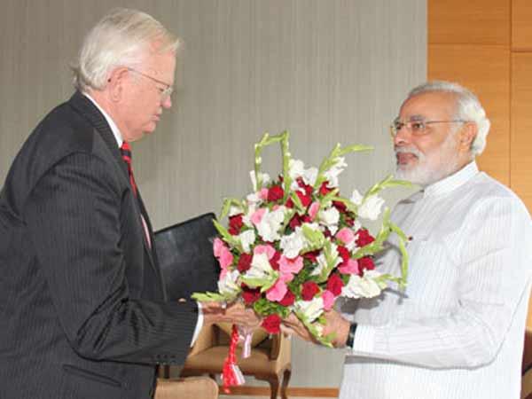 Former Us Envoy Mr Robert Blackwill Visit To Narendra Modi