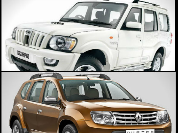 Mahindra Scorpio Knockouts Renault Duster