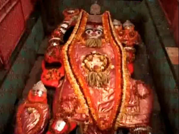 Hanuman Idol Imersed Water 39 Days In Allahabad