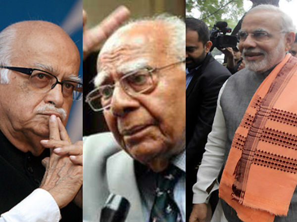 Modi Advani Ignores Each Other At Jethmalani S Birthday Party