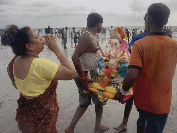 Security Tightened Ganesh Visarjan