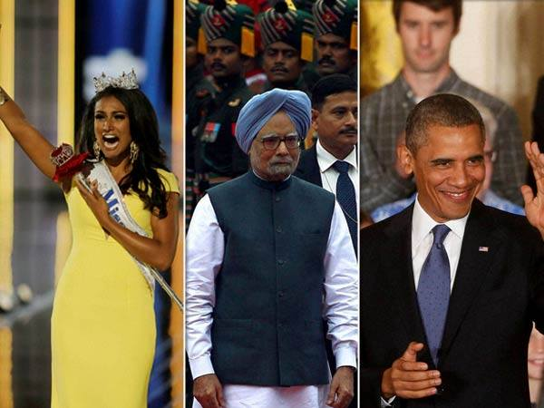Barack Obama And Manmohan Lunch At White House With Miss America
