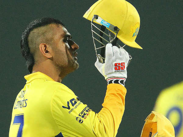 M S Dhoni Sports New Hairstyle At Champions League Match