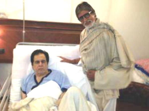 Amitabh Bachchan Meets Dilip Kumar Hospital Mumbai