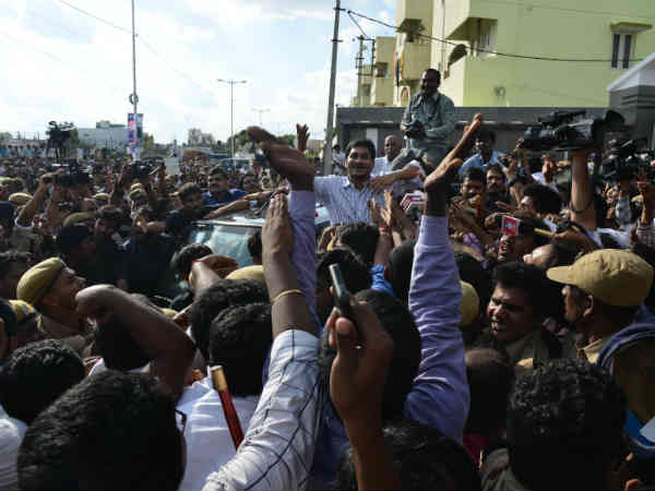 Celebration Jaganmohan Reddy Comes Outside On Bail