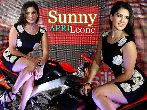 Sunny Leone Unveils Aprilia Moto Guzzi Super Bikes