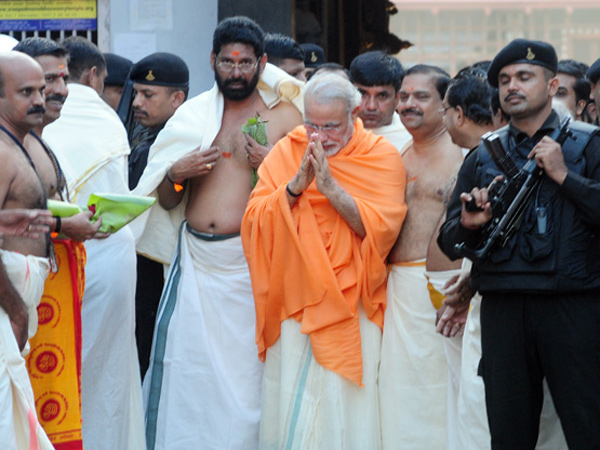 Narendra Modi Reached At South India Got Grand Welcome