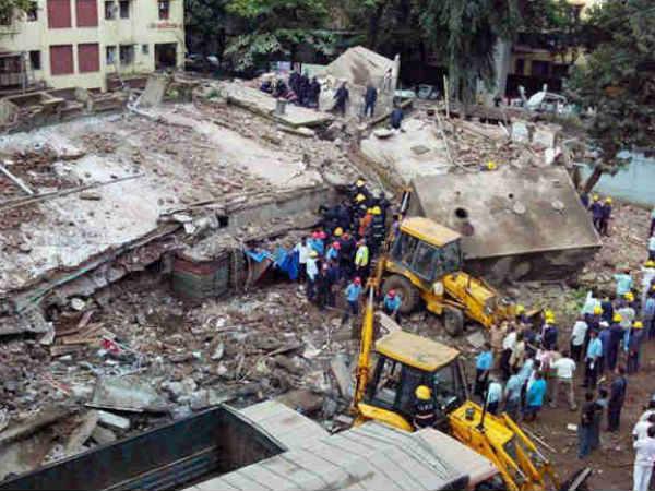 Storey Building Collapses Mumbai