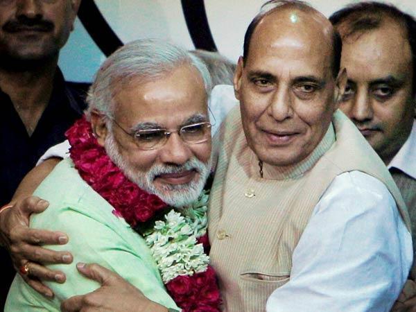 Rajnath Singh Replaces Narendra Modi As Bjp Poll Panel Cheif