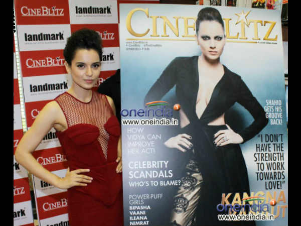 Kangna Ranaut Unveils Cine Blitz October 2013 Issue
