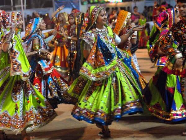 Navratri Fisrt Day Celebrate Garaba In Gandhinagar