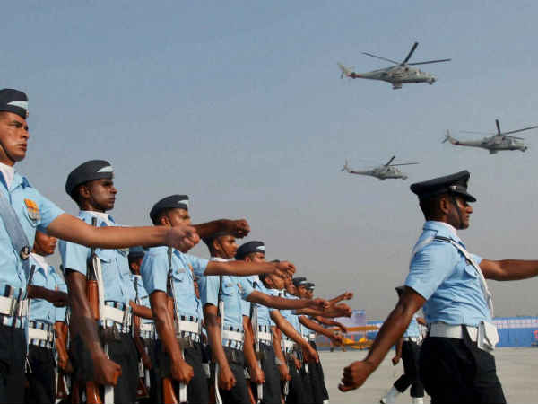 Indian Air Force Jawans Preparing For Air Force Day On October