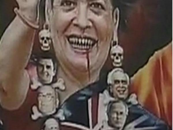 Controversial Posters Sonia Gandhi In Delhi